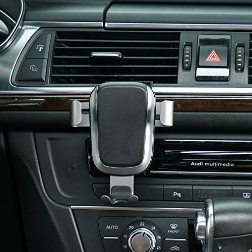 Phone Holder for Audi A6,Adjustable Air Vent Phone Holder Audi, Dashboard Cell Phone Holder for 2017 2018,Phone Mount for iPhone 8 iPhone X,Wireless Charging Smartphone 5.5~6 Inch.for Samsung