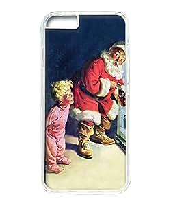 VUTTOO Iphone 6 Case, Santa Claus Coca Cola Fridge Hard Plastic Case for Apple iPhone 6 4.7 Inch PC Transparent