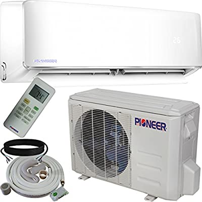 Pioneer Air Conditioner WYS009AMFI17RL Ductless INVERTER+ Mini-Split Heat Pump Complete System