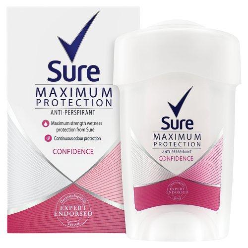 rotection Confidence Antiperspirant Deodorant Cream 45ml (Outlet Maximum Protection)