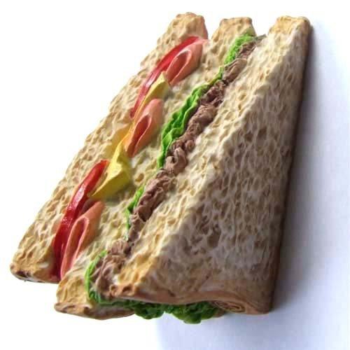 3d Magnet (Fast Food Ham Tuna Sandwich High Quality Resin 3d Fridge Magnet)