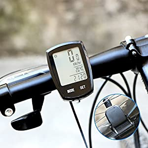 Bike Computer ThorFire Waterproof Bicycle Speedometer and Odometer Wireless Cycling Computer with LCD Back-light Display, Auto Wakeup - 24 Multi Functions