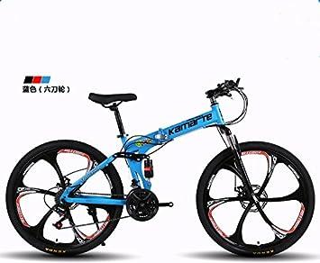 "Amortiguación plegable bicicleta de montaña marco de acero de alto carbono 24 ""24 velocidad"