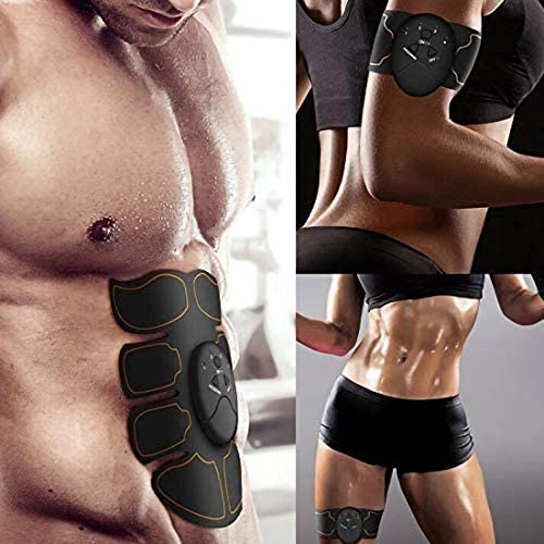 Abs Stimulator - Automatic Fitness System - Portable Fitness Workout Equipment - Home Office Exercise for Men Women with 12 Extra Gel Pads 7