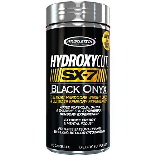 Cut Black Onyx (MuscleTech Hydroxycut SX 7, Black Onyx, 160 Count)