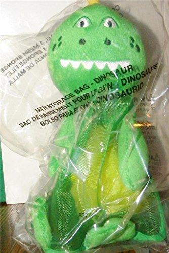 Mesh Dinosaur Kids Bath Organizer with Pouf Sponge - Ideas for Christmas Gifts for Boys (Dino Bath Bag)