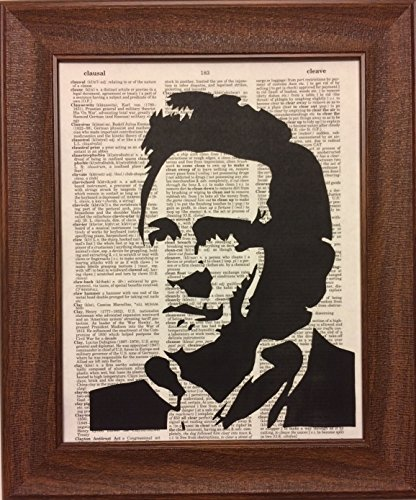 (Johnny Cash Music Singer Dictionary Book Page Artwork Print Picture Poster Home Office Bedroom Wall Decor)