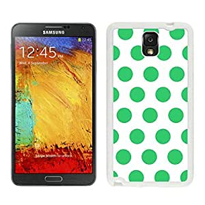 BINGO hot-sale Polka Dot White and Green Samsung Galaxy Note 3 Case White Cover