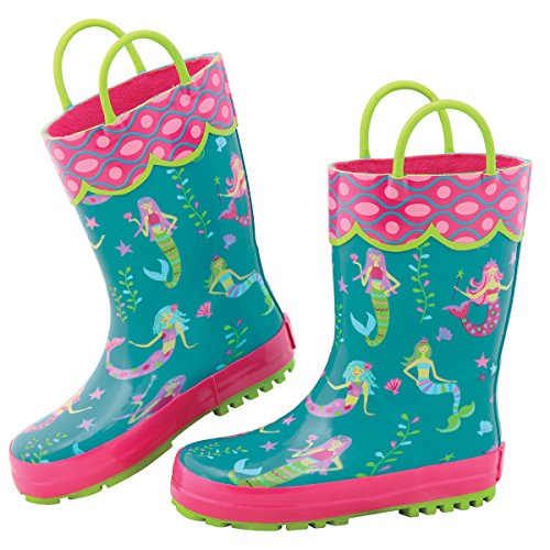 (Stephen Joseph Girls' Rainboots, Mermaid, 8)
