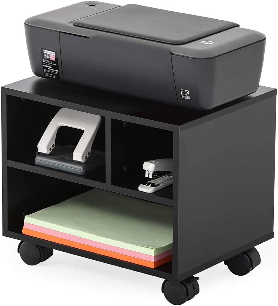 Alivinghome Rolling Printer Stand Organizing Storage for Office ...