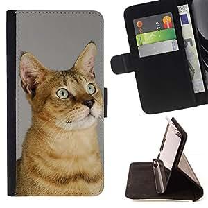 Momo Phone Case / Flip Funda de Cuero Case Cover - Chausie Abisinia Serengeti Sokoke; - Samsung Galaxy S4 IV I9500