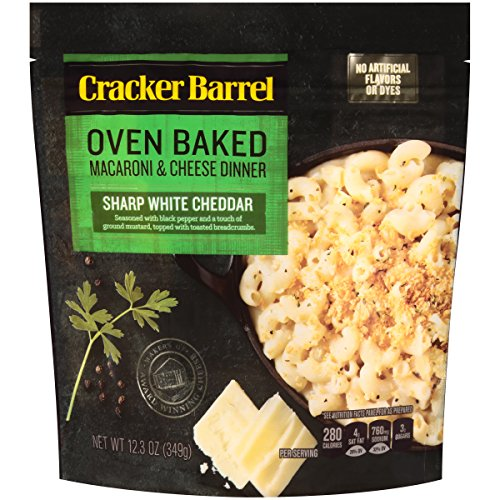 Cracker Barrel Oven Baked Sharp White Cheddar Macaroni & Cheese (12.34 oz Boxes, Pack of 5) (Cracker Barrel Oven Baked Mac And Cheese)