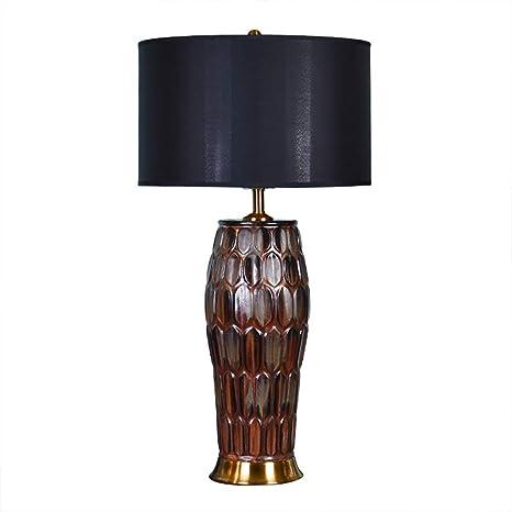 American Retro Ceramic Table lamp Living Room Bedroom Bedside lamp ...
