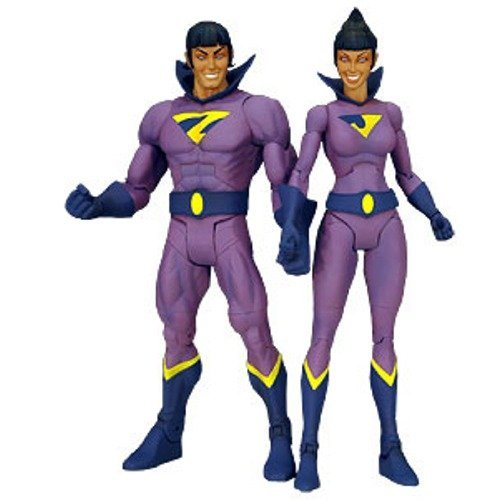 DC Territory Classics 2009 SDCC San Diego Comic-Con Exclusive Action Figure 2-Pack Wonder Twins (NO Gleek!)