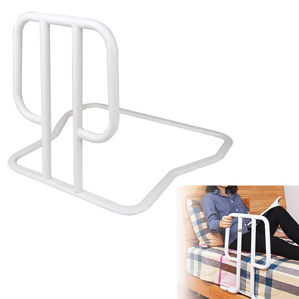 JOEPET Bed Assist Bar,Secure Bed Rail Bedroom Safety Fall Prevention Aid Handrail for Assisting Elderly and Seniors (White)