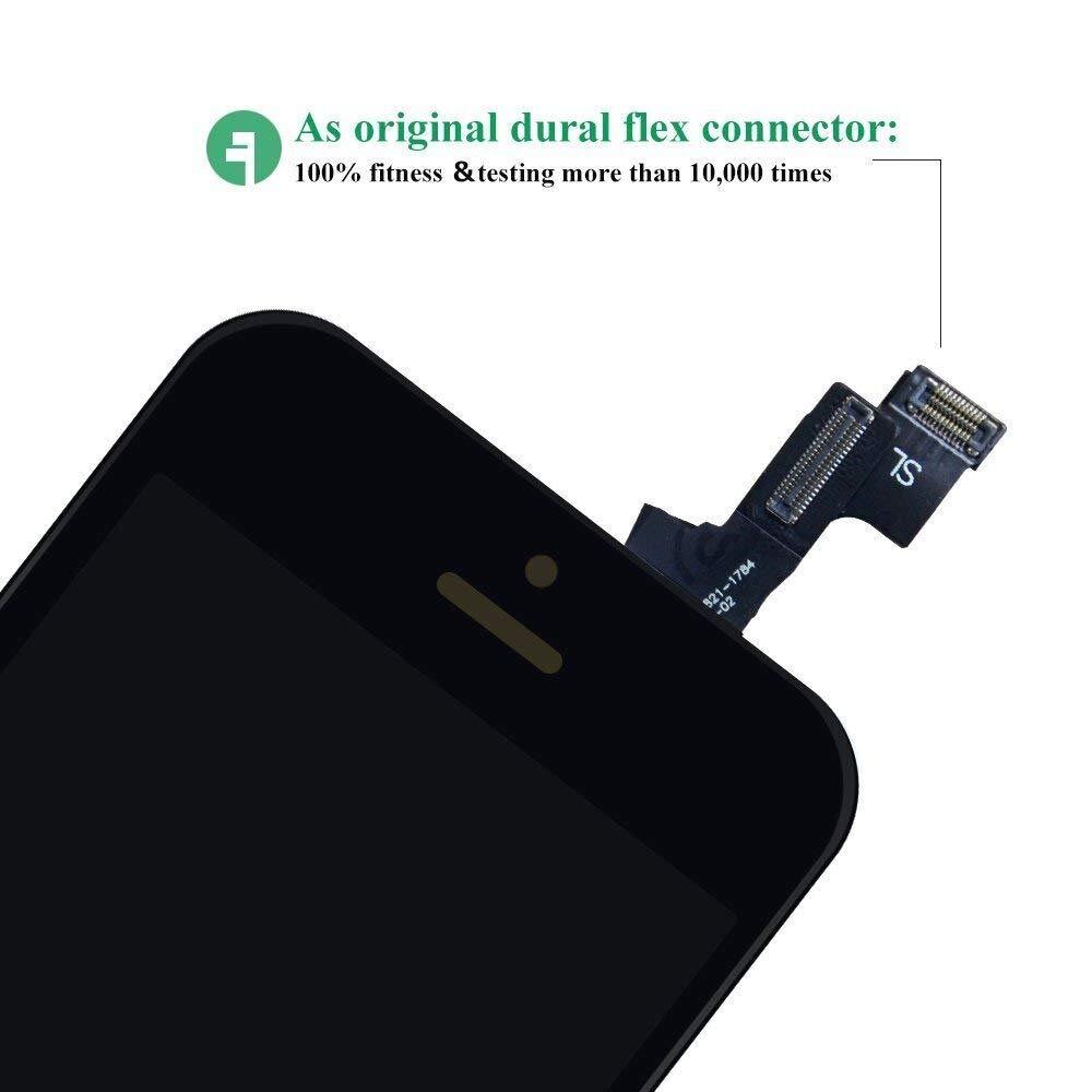 HTECHY Kompatible with iPhone 6 Display Ersatz Set Wei/ß,eine illustrierten Reparaturanleitung /& Komplettes Kostenlose Werkzeug-Einfache Installation f/ür Do-It-Yourself