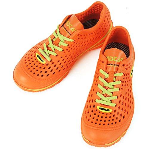 Mesh Lace up Leichtathletik Schwimmen Wasser Aqua Beach Sommer Herren Schuhe Orange