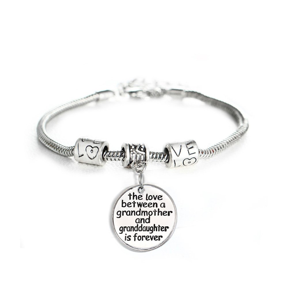 Love Between a Grandmother and Granddaughter is Forever Bracelet - Family Jewelry Gift - 10''