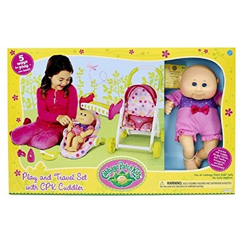 Cabbage Patch Kids Anniversary - Cabbage Patch Kids Play and Travel Set with CPK Cuddler