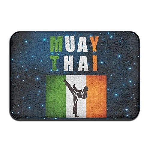 MECIKR Doormat Soft Non Slip Muay Thai Irland Bath Mat Coral Fleece Area Rug Entrance Rug Floor Mats by MECIKR