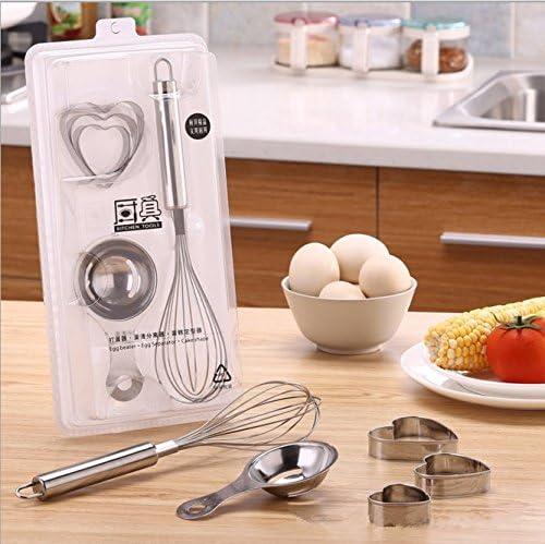 Varillas de acero inoxidable + separador de huevo + cortadores de ...