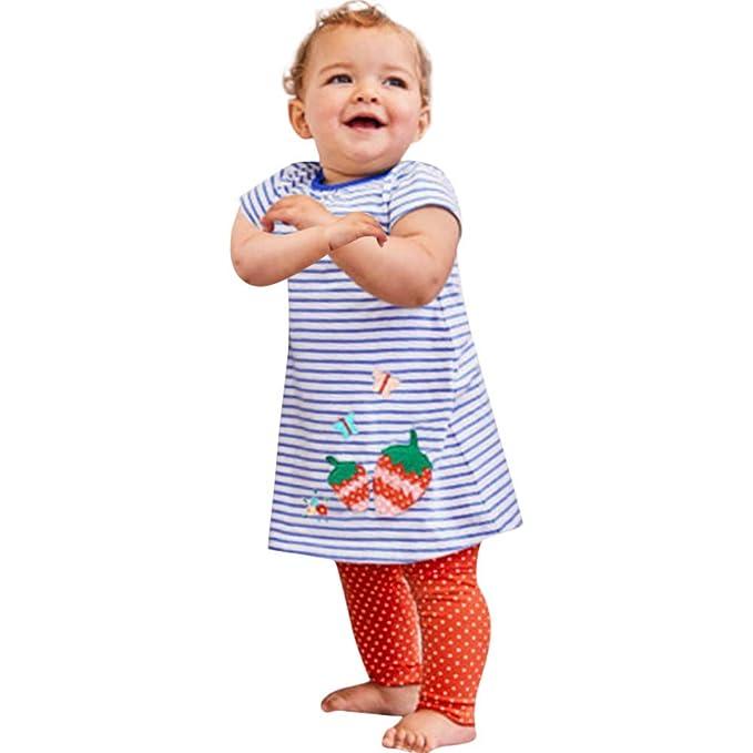Amazon.com: Lurryly❤Vestido de fresa para bebés y niñas con ...