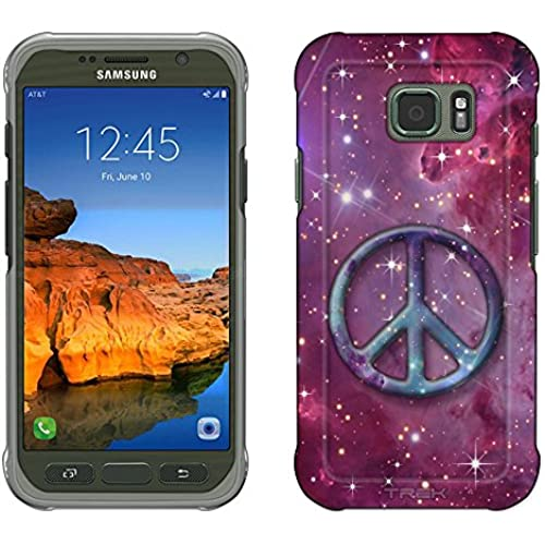 Samsung Galaxy S7 Active Case, Snap On Cover by Trek Peace on Nebula Purple Slim Case Sales