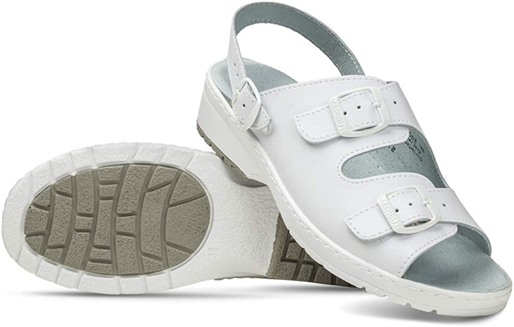 Color Blanco Zapatos de Trabajo para Mujer Piel Vidar 07A