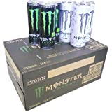 Monster Energy drink Energy and Ultra half & half 355ml cans ~ 24 bottles per case