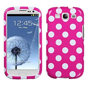 Pink White Dots Hard Case Cover for Samsung Galaxy S3 i9300 + Pen Stylus