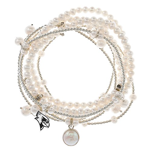 Illinois State Redbirds 7 Strand Freshwater Pearl and Silver Bracelet by College Jewelry