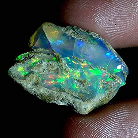 Ethiopian Welo Opal rough natural multicolor raw stone H1918R2 7ct 15x10x9mm