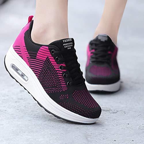 Jogging Coussin Femme 5CM Plateforme Sport Chaussure 35 à Bulle Running de Courir Marcher 40 Confort Basket de Chaussure Mode 6rBw60q