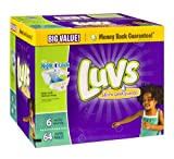 Health & Personal Care : Luvs Ultra Leakguards Diapers (Over 35 lbs) 64 CT (Pack of 6)