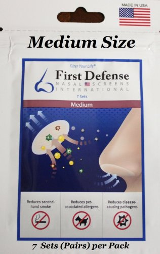 First Defense Nasal Screens - Multi-Size and Quantity Packs (1-Pack, Medium)