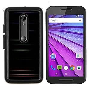 TECHCASE---Cubierta de la caja de protección para la piel dura ** Motorola MOTO G3 ( 3nd Generation ) ** --Minimalista color Rayas