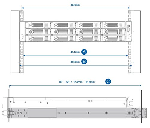QNAP Qnap 2U Rail Kit (RAIL-B02) 2 Provides an extensible design that enables Service prioritization for data Design that delivers high availability, scalability, and for maximum flexibility and price/performance The country of Origin is Taiwan