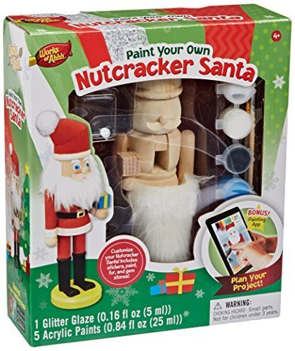 Masterpieces Works of Ahhh Nutcracker Santa Large Wood Paint Kit CustomerPackageType: Standard Packaging Style: Nutcracker Santa, Model: 21516, Toys & Play