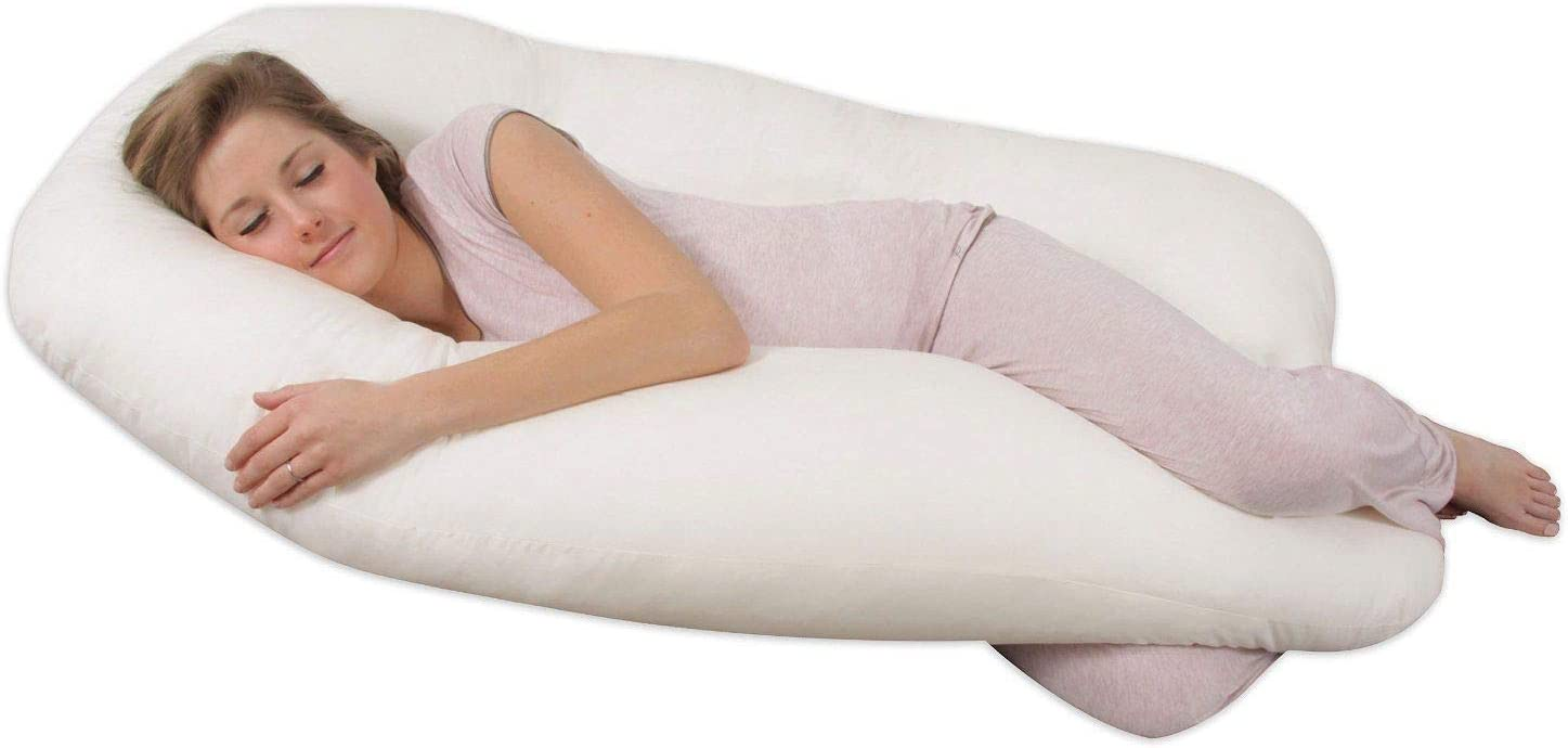 12 FT Adam Home Duck Feather 9ft /& 12ft U Shaped Body Pillow Extra Fill Body Back Support Nursing Maternity Pregnancy Pillow Only