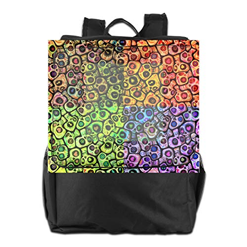 Louise Morrison Sugar Skull Mexico Tradition Women Men Laptop Travel Backpack College School Bookbag ()