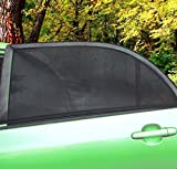 Zone Tech Car Side Window Stretchable Mesh Sunshade - 2-Pack Universal Fit Stretchable Protective Mesh Sunshade