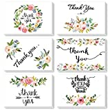 Thank You Cards Gift For Wedding, Baby Shower, Business, Anniversary, Graduation, with 36 Envelopes and Stickers (Flower)
