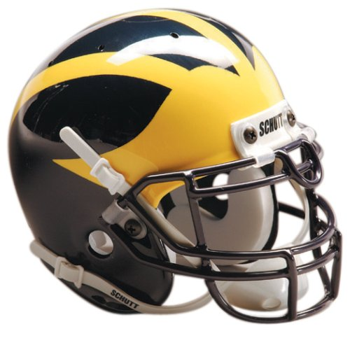 Schutt Sports Michigan Wolverines Authentic Mini Collectible Football Helmet, Classic -