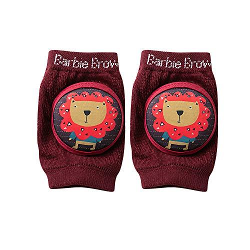 Kniebeschermers baby kruipen met rubberen punten, anti-slip elastisch voor baby unisex katoen kniebeschermers 0-24…