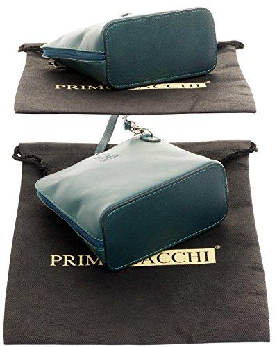 Shoulder Primo Leather Small Bag Teal Dark Body Hand Made Italian Soft Bag Handbag Micro Cross Sacchi or rTRrq7