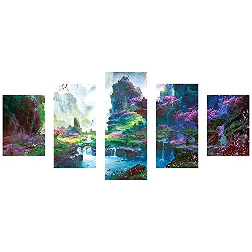 - Freeby 5Pieces DIY 5D Diamond Painting Kit Diamond Sticker Stitch Painting Sets Full Drill Painting Embroidery Cross Stitch Wall Arts Craft Canvas,Beautiful Fairyland (D)