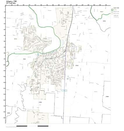 Amazon.com: ZIP Code Wall Map of Albany, OR ZIP Code Map Not