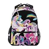 Backpack My Little Pony Unicorn Family Mens Laptop Backpacks Hiking Bag School Daypack
