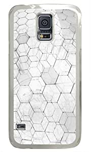 White Hex Custom Samsung Galaxy S5 Case and Cover - Polycarbonate - Transparent