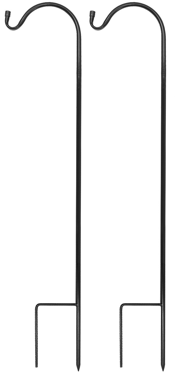 Sorbus Shepherd's Hooks - Set of 2 Extendable Garden Planter Stakes for Bird Feeders, Outdoor Décor, Plants, Lights, Lanterns, Flower Baskets, and More! Heavy Duty (2 Pack)